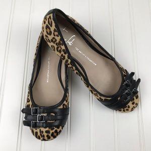 Franco Sarto Artist Collection Leopard Print Flats